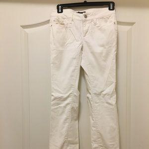 Ann Taylor white corduroy jeans - 00P